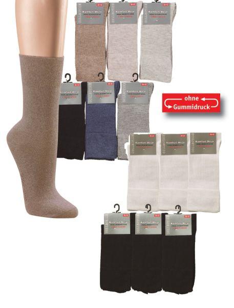 Damensocken Socken Strümpfe Jeans Baumwolle Staffelpreise Blau Grau